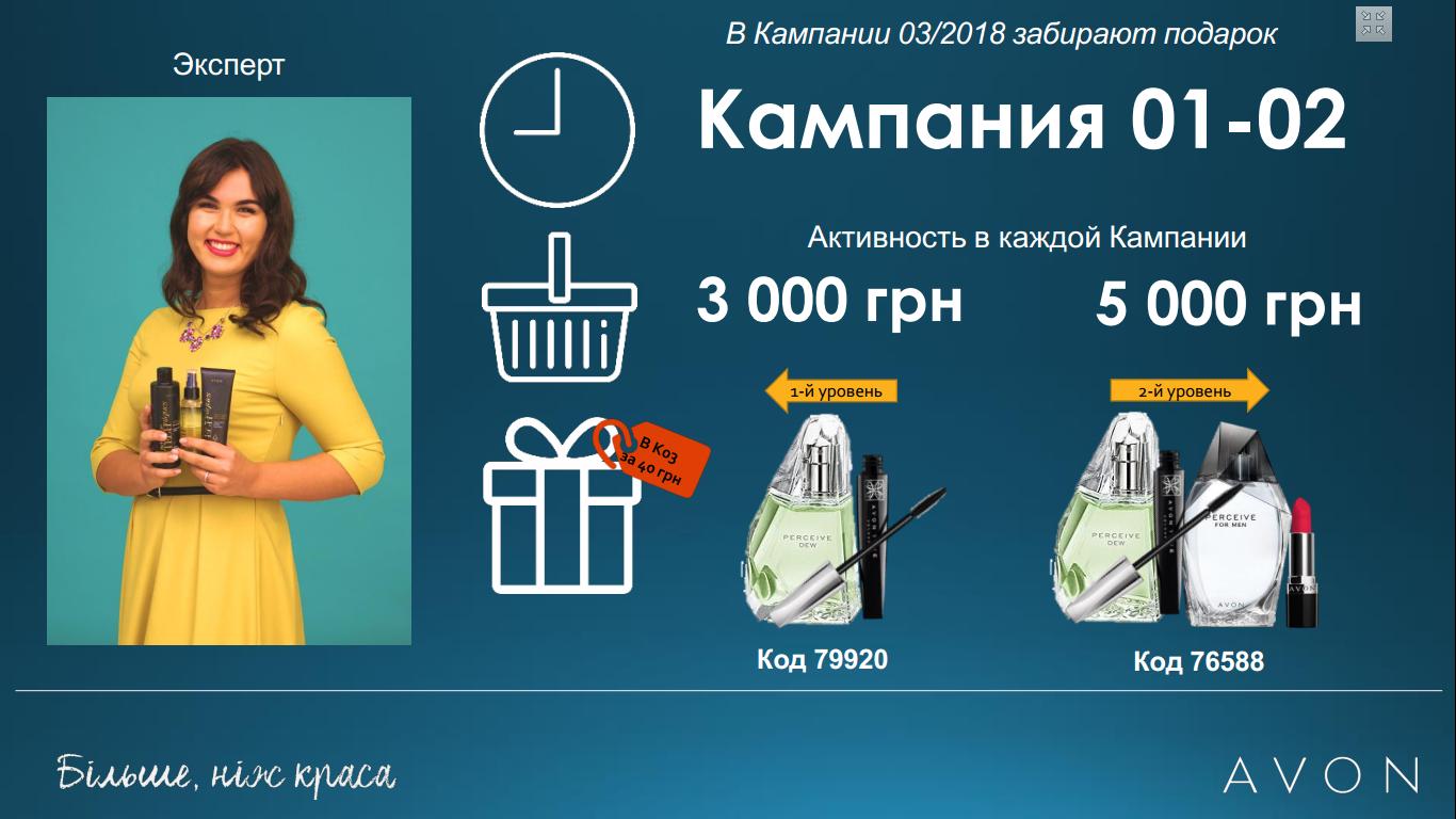 Картинка с программой и подарками для Экспертов в каталоге 01/2018