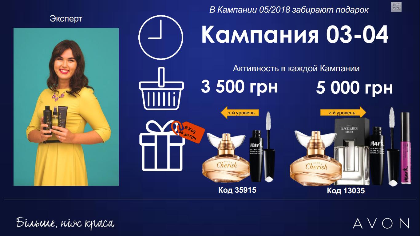 Картинка с подарками для Экспертов в каталоге 03/2018