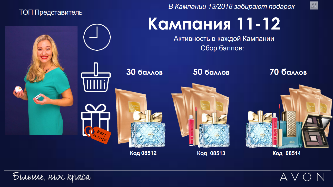Изображение подарков по программе для Топ-Представителей