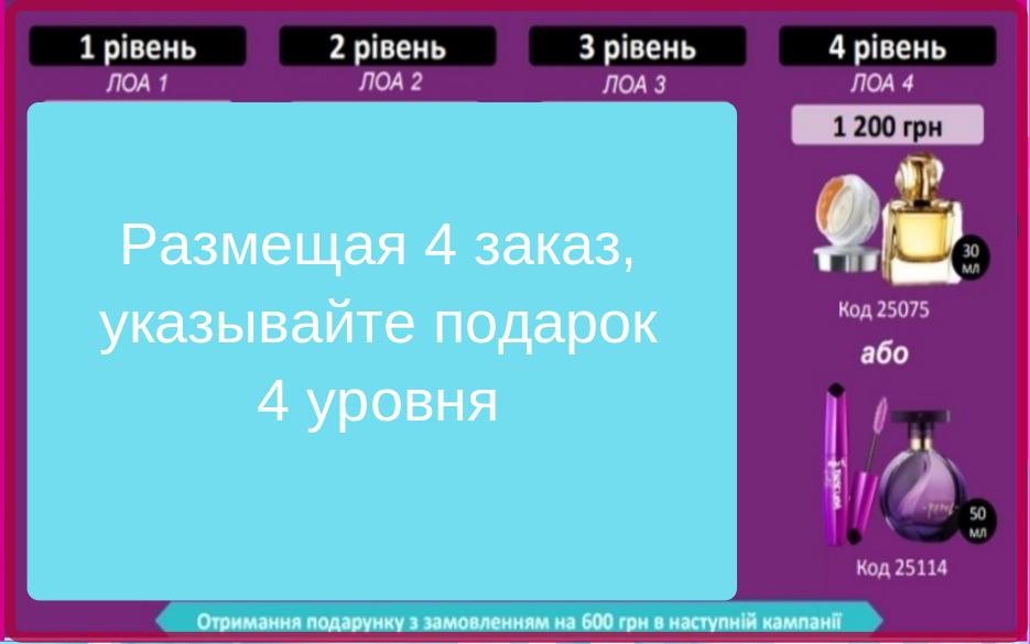 Изображение подарка 4 уровня по программе для Представителей